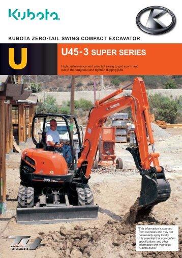 U45-3S Zero Tail Swing Excavator - LiveUpdater