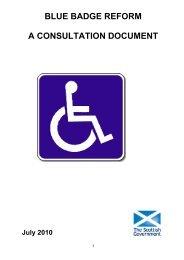 Blue Badge Reform - Transport Scotland