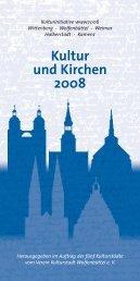 Kultur und Kirchen 2008 - Kulturstadt-wf.de