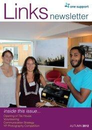 Links Newsletter - Autumn 2012 - One Housing Group