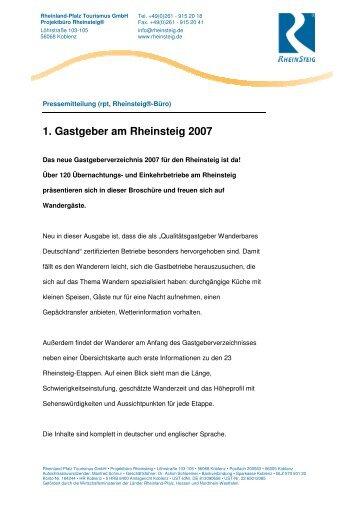 1. Gastgeber am Rheinsteig 2007