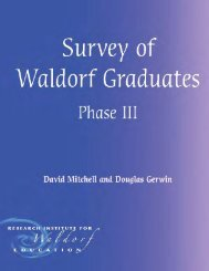 Survey of Waldorf Graduates, Phase 3 - Waldorf Research Institute