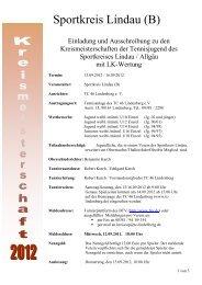 Ausschreibung (pdf) - TC Lindenberg
