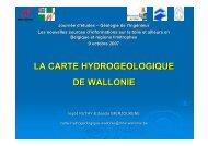 LA CARTE HYDROGEOLOGIQUE DE WALLONIE - sbgimr