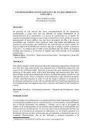 los repositorios de acceso abierto en costa rica - Universidad de ...