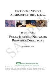 NVA Participating Vision Provider Directory - Port Huron Area Schools