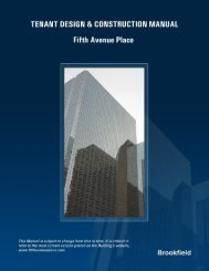 "tenant design criteria - ""office tower"" - Brookfield Properties"