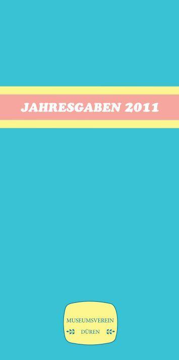 Jahresgabenkatalog 2011. - Rheinschiene@ktuell