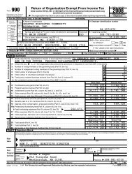 IRS Form 990 2008 - Greater Worcester Community Foundation