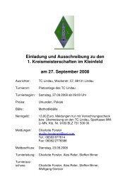 Einladung und Ausschreibung zu den 1. Kreismeisterschaften im ...
