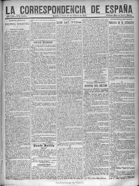 La Correspondencia de Españaq - 100 años gran vía madrid