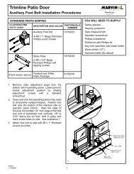 Trimline Patio Door - Marvin Windows and Doors