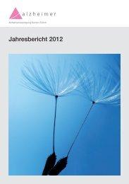 Jahresbericht 2012 (PDF) - Alzheimervereinigung Kanton Zürich