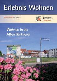 Ausgabe 25 / 2013 - Gemeinnützige Wohnstätten eG Wolfenbüttel