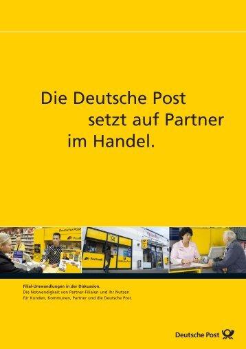 Die Deutsche Post setzt auf Partner im Handel. - RIS