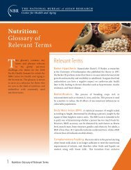 Nutrition: Glossary of Relevant Terms - Pacific Health Summit
