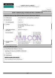 safety data sheet dow corning(r) antifoam msa compound - AMI-CON