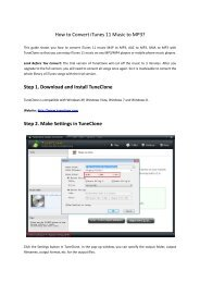 Share iTunes Music with Sony Walkman Player - M4P to MP3