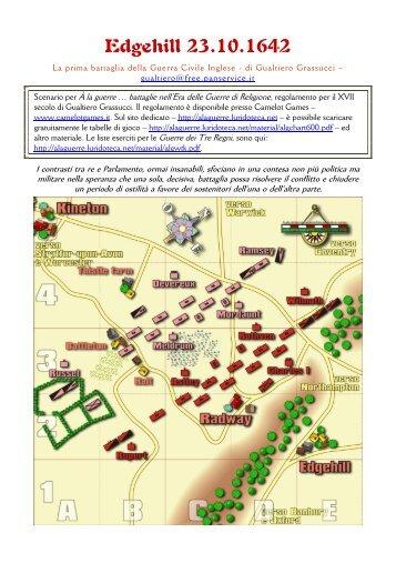 scenario di Edgehill 1642 - A la guerre