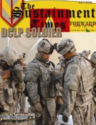 July 08 Issue Sustainment Times Forward - Fort Riley, KS - U.S. Army