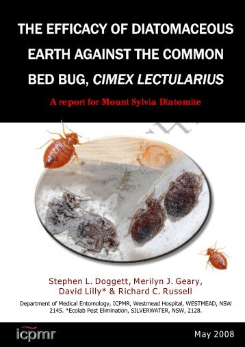 the efficacy of diatomaceous earth against the common bed bug