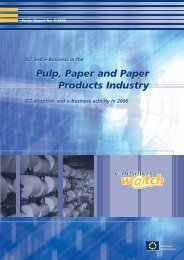 ICT and e-Business in the Pulp, Paper and Paper ... - empirica