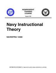 Navy Instructional Theory - Historic Naval Ships Association