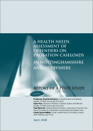 A health needs assessment of offenders on probation caseloads