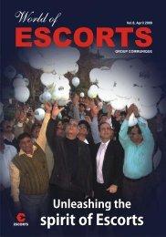 Vol. 8, April 2009 - Escorts Group