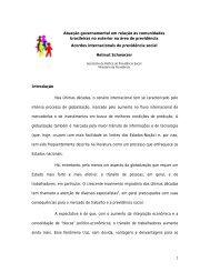 Atuação governamental em relação às comunidades brasileiras no ...