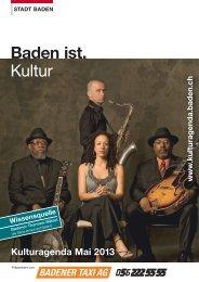 Kulturagenda Mai 2013 - Veranstaltungen - Stadt Baden