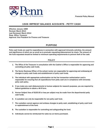 Petty Cash Reimbursement Request Form PsA