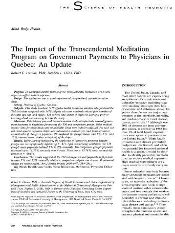 The Impact of the Transcendental Meditation Program on ...