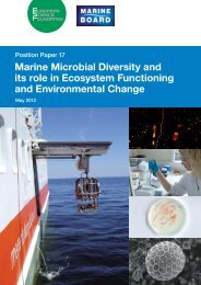 Marine Microbial Diversity and its role in Ecosystem Functioning and ...