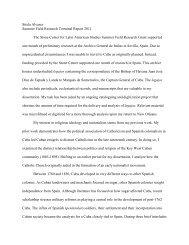 Sitela Alvarez Summer Field Research Terminal Report 2011 The ...