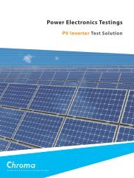Download PV (Solar) Brochure - Chroma Systems Solutions