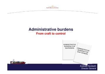 Administrative burdens