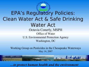 Clean Water Act & Safe Drink Water Act