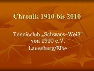 Chronik 1910 bis 2010 - Tennisclub