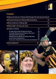 Kilkenny County Board Strategic Plan, 2010-2015 (pdf) - Croke Park