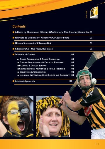 Kilkenny County Board Strategic Plan, 2010-2015 (pdf) - Croke Park