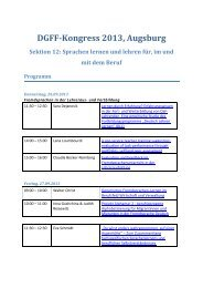 Sektion 12 - Deutsche Gesellschaft für Fremdsprachenforschung