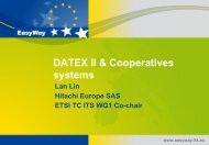 Datex II & Cooperative Systems