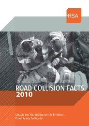 Road Collision Facts - 2010 - RSA.ie