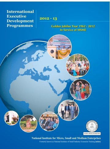 International Executive Development Programmes 2012 - 13