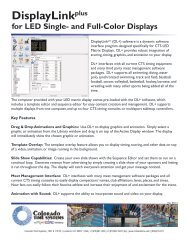 for LED Matrix Single- and Full-Color Displays - Colorado Time ...