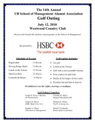 Golf Outing - University at Buffalo School of Management