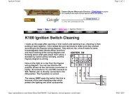 K100 Ignition Switch Cleaning - K100.biz