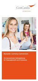 Dynamic Currency Conversion - ConCardis GmbH