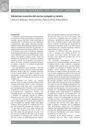 ITALIAN JOURNAL OF PUBLIC HEALTH Valutazione ... - Ijph.it
